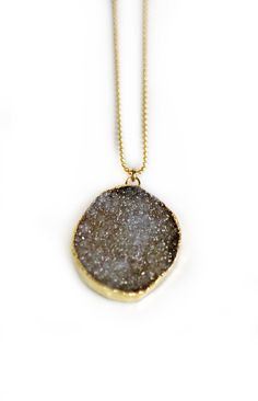 DRUZY necklace  long by keijewelry on Etsy
