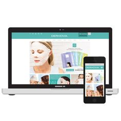 Dermovia beauty website design
