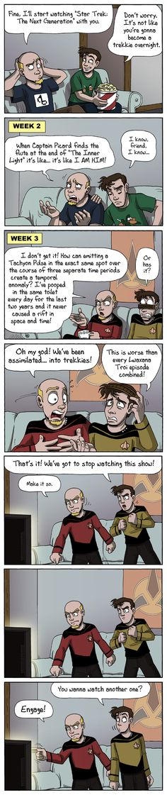 Star Trek TNG... you WILL be assimilated. xD Netflix - The Final Frontier by Tom Preston.
