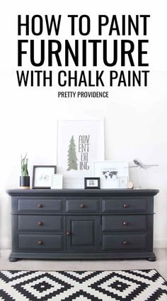 I can't believe the results of this chalk paint dresser makeover! It looks like a completely different piece of furniture! If you've ever wondered how to paint furniture with chalk paint this tutorial is for you! So easy and so effective. #dressermakeover #chalkpaint #paint #dressermakeoverideas #diydressermakeover #chalkpaintfurniture #chalkpaintprojects #repurposedfurniture #diy #diyproject #easydiy #furniture #dresser