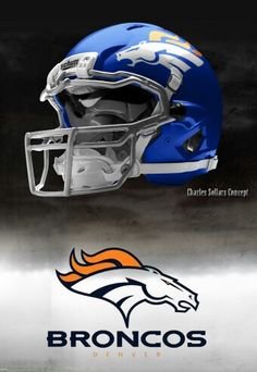 Denver Broncos helmet Charles Sollars concept