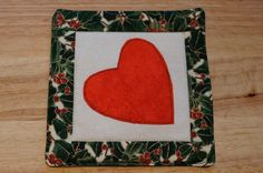 Platzsets - Patchwork Untersetzer Weihnachten Herz - ein Designerstück von DieFlickenwerkstatt bei DaWanda
