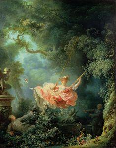 O balanço (1767). Jean-Honoré Fragonard (1732-1806). óleo sobre tela (81cm x 64cm). Wallace Collection, Londres, Reino Unido. Livro: FARTHING, Stephen. This is Art. Londres: Quintessence, 2010.