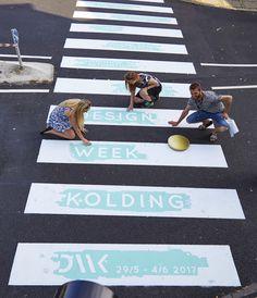 Crosswalk in Kolding, Denmark 2016  #crosswalk #Kolding #guerilla #designweek…