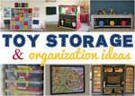 With Christmas behind us, I can't help but have toy storage and organization on the mind. If you have kids, you know that the holidays bring an onslaught of new toys - toys without homes that end up scattered...