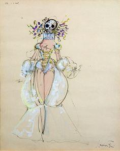 Leonor Fini - Dama con calavera (Lady with Skull