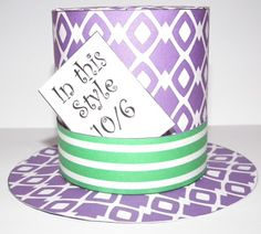 Don't Eat the Paste: Printable mini Mad Hatter top hat with template