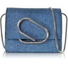 3.1 Phillip Lim Designer Handbags Alix Washed Indigo Micro Crossbody (€525)  ❤ liked