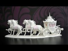 ▶ Tutorial: How To Make A Sugar Horse And Carriage Centerpiece - YouTube