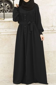 Ahsen Robotic Abaya - Schwarz Fountain – A Watery Touch To Your House Article Bo Hijab Fashion Summer, Niqab Fashion, Modest Fashion Hijab, Modern Hijab Fashion, Muslim Women Fashion, Hijab Fashion Inspiration, Fashion Outfits, Mode Abaya, Hijab Fashionista