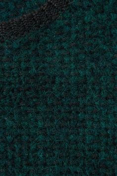 COS image 5 of Knitted short-sleeve jumper in Forest Green