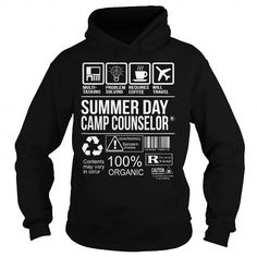 Awesome Tee For Summer Day Camp Counselor T Shirts, Hoodies. Get it here ==► https://www.sunfrog.com/LifeStyle/Awesome-Tee-For-Summer-Day-Camp-Counselor-Black-Hoodie.html?41382