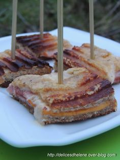CROQUE MOELLEUX Sandwich Cake, Sandwiches, Cheese Toasties, Grilling, Pie, Change, Snacks, Madame, Desserts