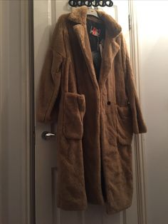 Msgm faux fur maxi coat