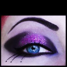 Purple glitter smokey eye #SephoraColorWash #Purple