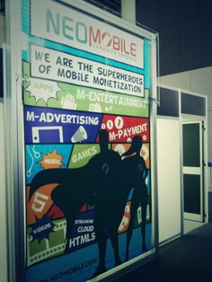 theme at Neomobile booth Music Games, Advertising, Clouds, Events, Entertaining, App, Superhero, Apps, Musik