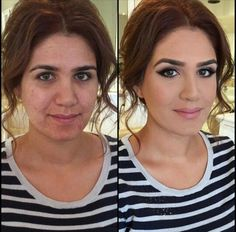 The power of makeup Crazy Makeup, Love Makeup, Makeup Tips, Makeup Looks, Hair Makeup, Makeup Photoshop, Beauty Secrets, Beauty Hacks, Digital Makeover