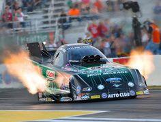 whoa !!! monster Ford Racer belching flames