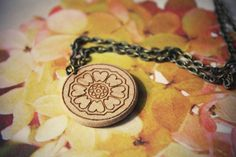 White Lotus - Avatar the Last AirBender///Necklace//Wood
