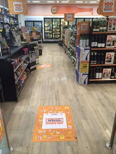 Our Tacky Floor Laminate as seen at BWS stores in NSW.