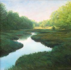 """York Tidal Marsh,"" by Sally Ladd Cole, oil on canvas, 18 x 18, $4200 framed"