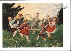 Kuenstlerkarte F. Schenkel Ringel Ringel Reihe Tanz / Kuenstlerkarte / 0