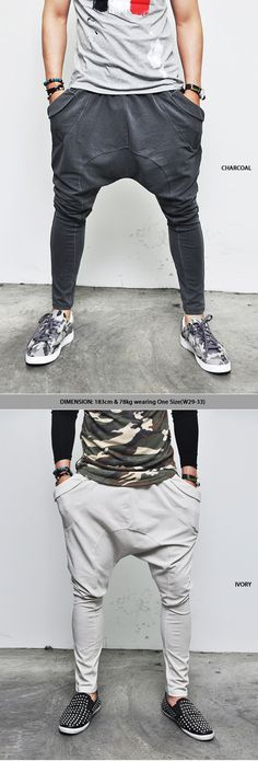 Bottoms :: Sweatpants :: Vintage Bio Washed Drop Crotch Baggy-Sweatpants 49 - Mens Fashion Clothing For An Attractive Guy Look