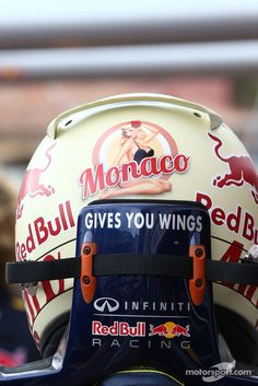 Vettel's Monaco special edition helmet.