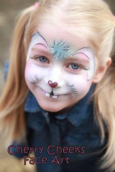 Cherry Cheeks Face Art - Easter bunny