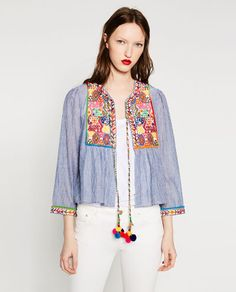 Image 3 of SHORT EMBROIDERED JACKET. from Zara
