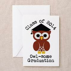 Cute Graduation Owl with mortar board Greeting Car> Cute graduation owl with mortar board> Victory Ink Tshirts and Gifts