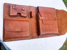 Leather Cigar Case, Leather Bag, Bicycle Basket, Cigar Cases, Pouch, Wallet, Caramel Color, Stitching Leather, Custom Leather