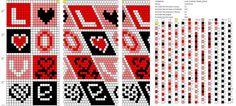 Wayuu Mochila pattern Love