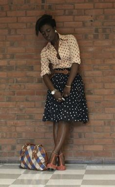 I've never liked mixing prints, but I love this outfit! Fashion Mode, Blue Fashion, Look Fashion, African Fashion, Womens Fashion, African Style, Looks Style, Style Me, Blue Style