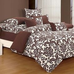 Chocolate Fitted Bed Sheet, Shades of Paradise-9009