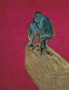 Francis Bacon, Study for Chimpanzee (1957), huile et pastel