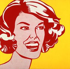 Head: Red and Yellow, 1962 - Roy Lichtenstein - Oil on canvas, 48 x 48 inches, 121.9 x 121.9 cm