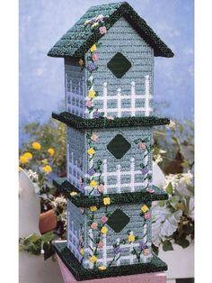 Plastic Canvas - Home Decor - Decorations & Knickknacks - Paradise Manor - Plastic Canvas Box Patterns, Plastic Canvas Tissue Boxes, Plastic Canvas Crafts, Canvas Designs, Canvas Ideas, Canvas Home, Tissue Box Covers, Bird Houses, Plastic Canvas