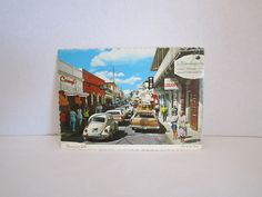 "Vintage Post Card of ST-THOMAS - Virgin Islands "" Dronningens Gade "" ( Main street ) 1971 by TashasVintages on Etsy"