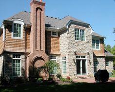 House Chimney Design brick chimney   chimney with herring bone pattern. danish brick