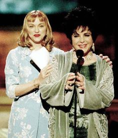 Elizabeth Taylor wearing Charles and Patricia Lester with Madonna