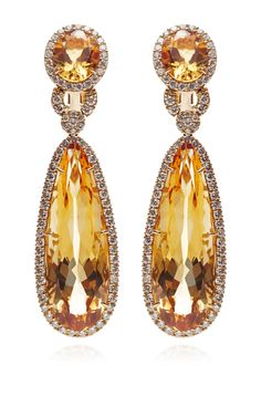 686b5627f Citrine And Diamond Drop Earrings by Gioia for Preorder on Moda Operandi  Solitaire Earrings, Citrine