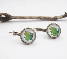 Handmade dangle earrings with original leaves por MusettayMimi
