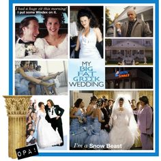 """Oh I forgot all about this wedding movie... """"OPA! My Big Fat Greek Wedding, created by vinnystew on Polyvore""""  p/i"""