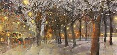 Ilta Bulevardilla, akvarelli 2019 Painting, Watercolors, Image, Art, Art Background, Water Colors, Painting Art, Kunst, Paintings