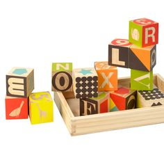 wood puzzle blocks by dwell available at darling clementine