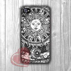 Vintage moon and sun phone case -fun3 for iPhone 6S case, iPhone 5s case, iPhone 6 case, iPhone 4S, Samsung S6 Edge