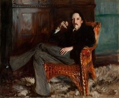"John Singer Sargent (American, 1856–1925). Robert Louis Stevenson, 1887. Bequest of Charles Phelps and Anna Sinton Taft, Taft Museum of Art, Cincinnati, Ohio | This work is in our ""Sargent: Portraits of Artists and Friends,"" on view through October 4, 2015."