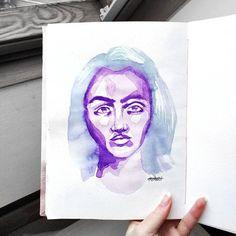 Nikola Vizinová (@art_by_nerea) • Fotky a videa na Instagramu Making Out, Palette, Watercolor, Portrait, Instagram, Art, Pen And Wash, Art Background, Watercolor Painting