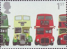 Anniversary of First Double-Decker Bus AEC Regent III RT Type, Bristol Open-top, AEC Routemaster and Bristol Lodekka English stamp Richard Branson, Uk Stamps, Commemorative Stamps, Postage Stamp Art, Double Decker Bus, Envelope Art, London Bus, Small Art, Penny Black